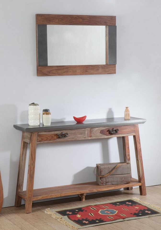 the wood times odisha konsolentisch mit 2 schubladen online kaufen otto. Black Bedroom Furniture Sets. Home Design Ideas