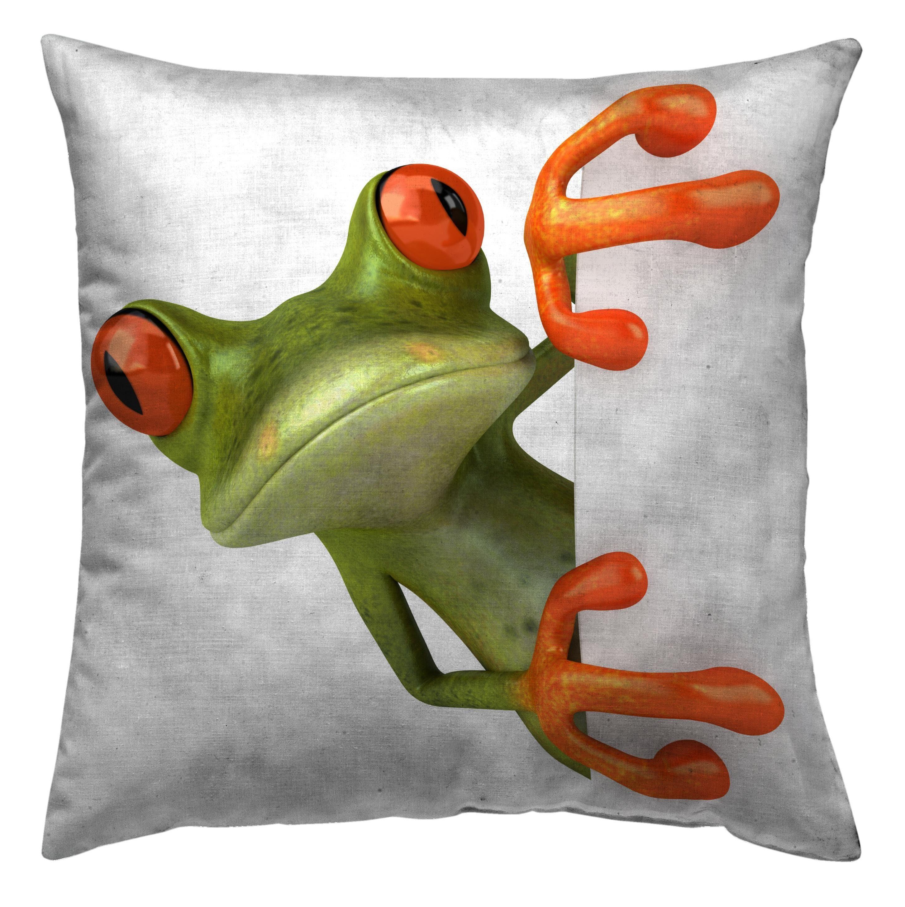 Kissenhülle, Zebra Textil, »Froggy«, mit süßem Frosch