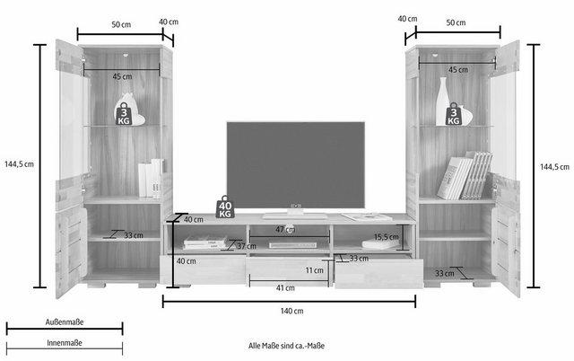 Wohnwände - Wohnwand, (Set, 3 tlg)  - Onlineshop OTTO