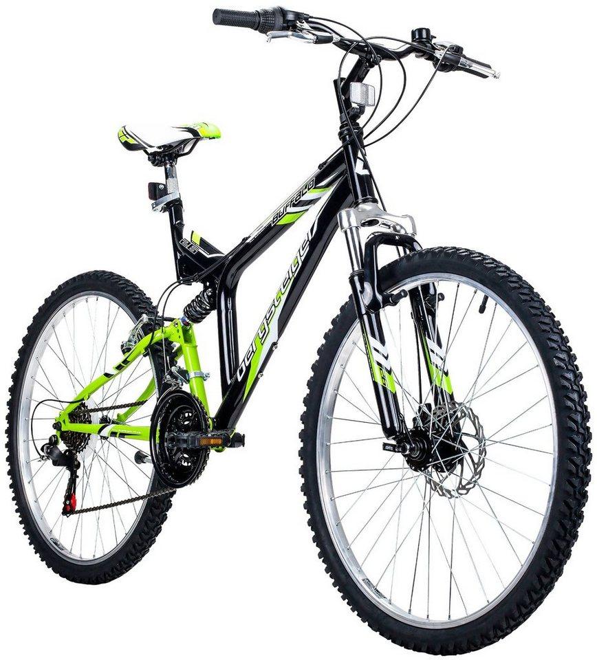 Bergsteiger Mountainbike »Buffalo«, 26 Zoll, 18 Gang, Scheibenbremse ...