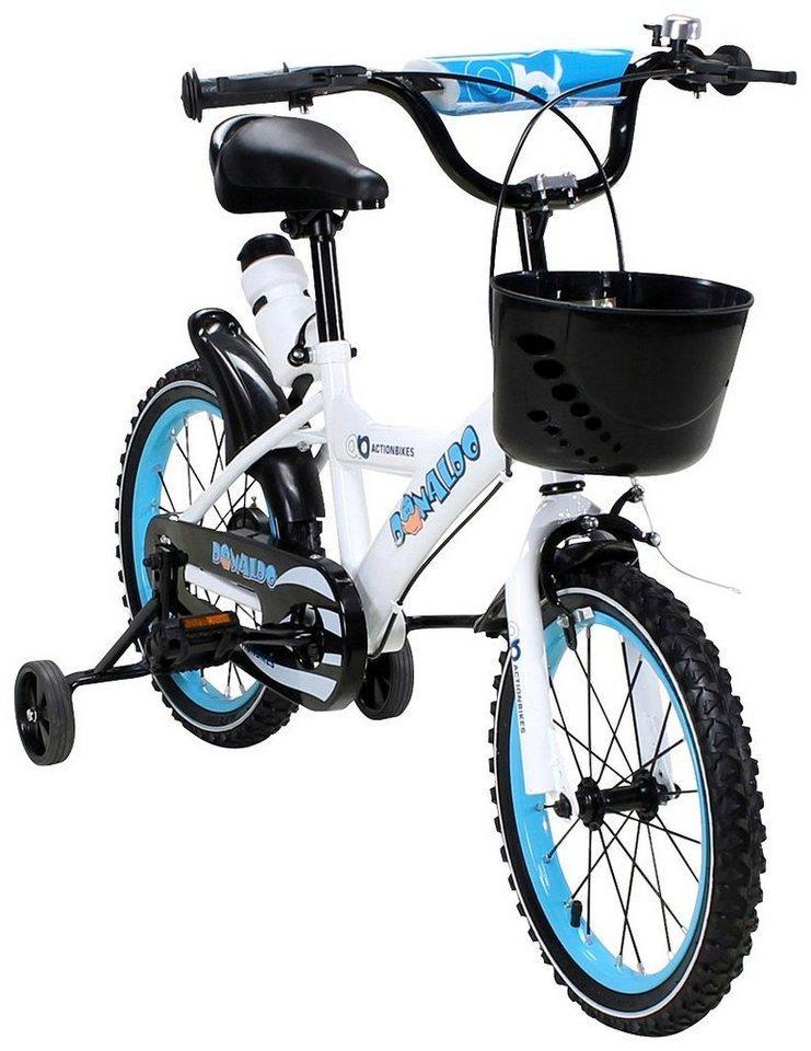 actionbikes motors kinderfahrrad donaldo 16 zoll 1. Black Bedroom Furniture Sets. Home Design Ideas