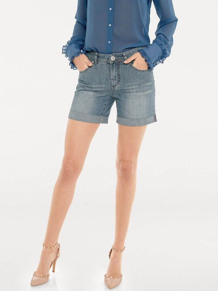 B.C. BEST CONNECTIONS by Heine Jeans-Shorts in blue stone