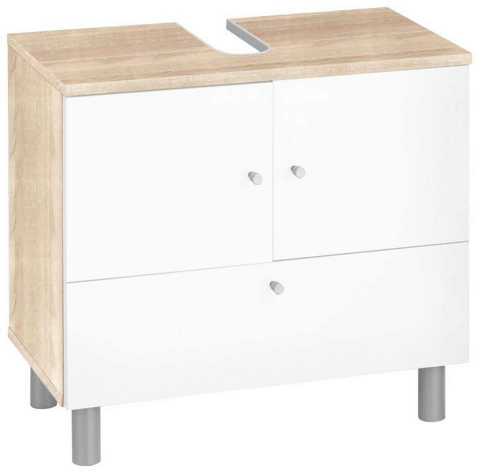 waschbeckenunterschrank simply mit 2 t ren und 1 klappe. Black Bedroom Furniture Sets. Home Design Ideas