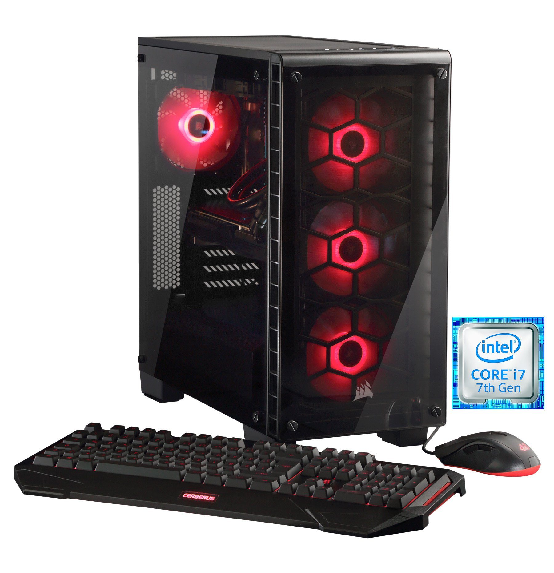 HYRICAN PC Intel® i7-7700K, 16GB, GeForce GTX® 1070 »Crystal 5390 - powered by ASUS«