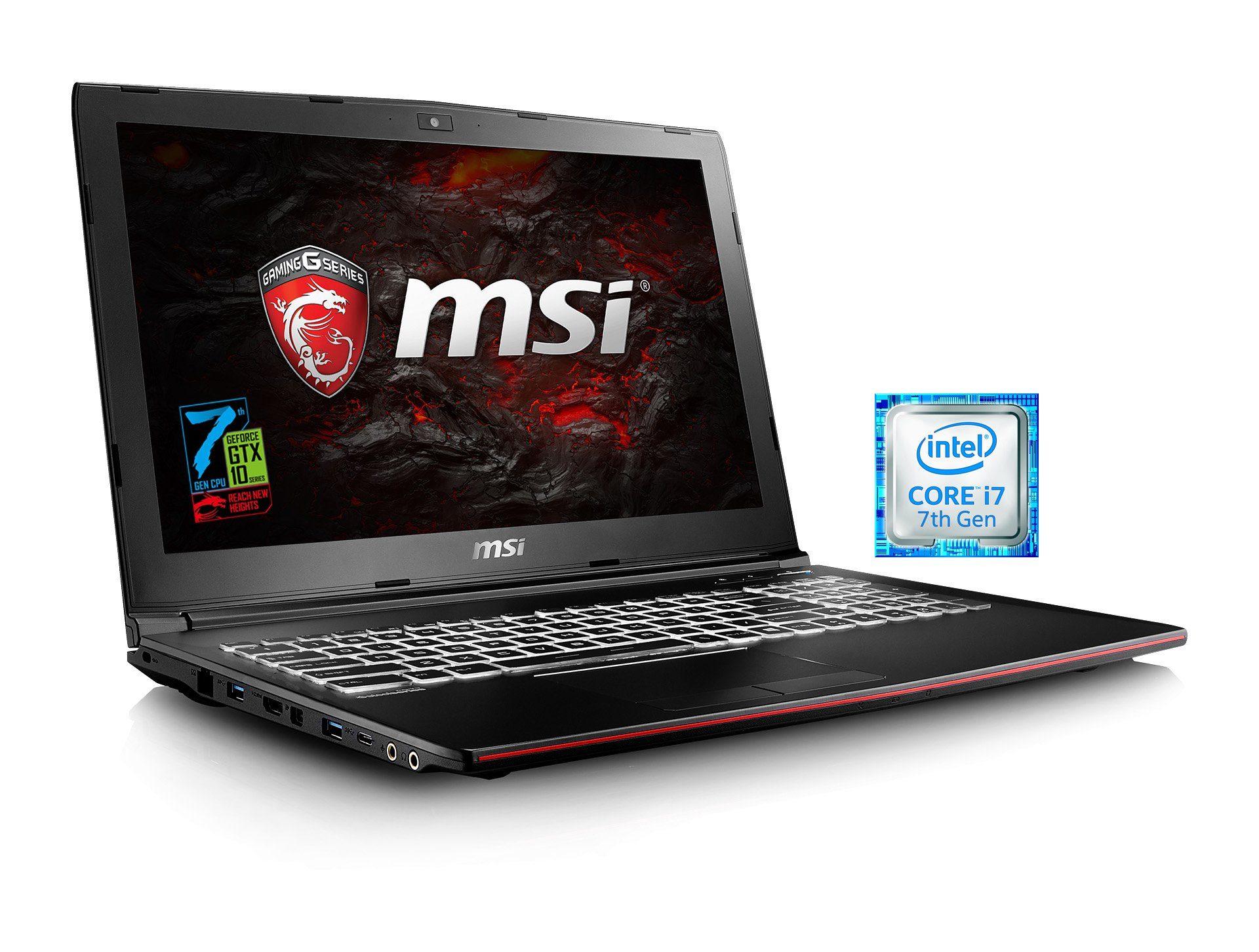 """MSI 15,6"""", Intel® i7-7700HQ, 8GB, SSD + HDD, GeForce® GTX 1050 »GP62M 7RD-076DE (0016J9-076)«"""