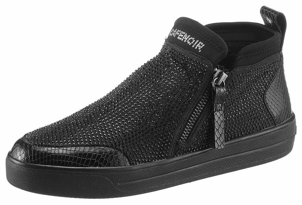 Cafe Noir Sneaker in funkelnder Optik in schwarz