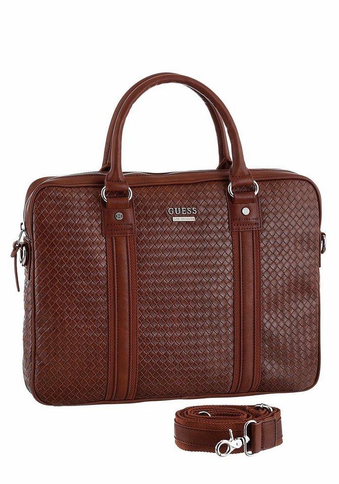 Guess Messenger Bag »DOWNTOWN WOVEN WORK BAG« in braun