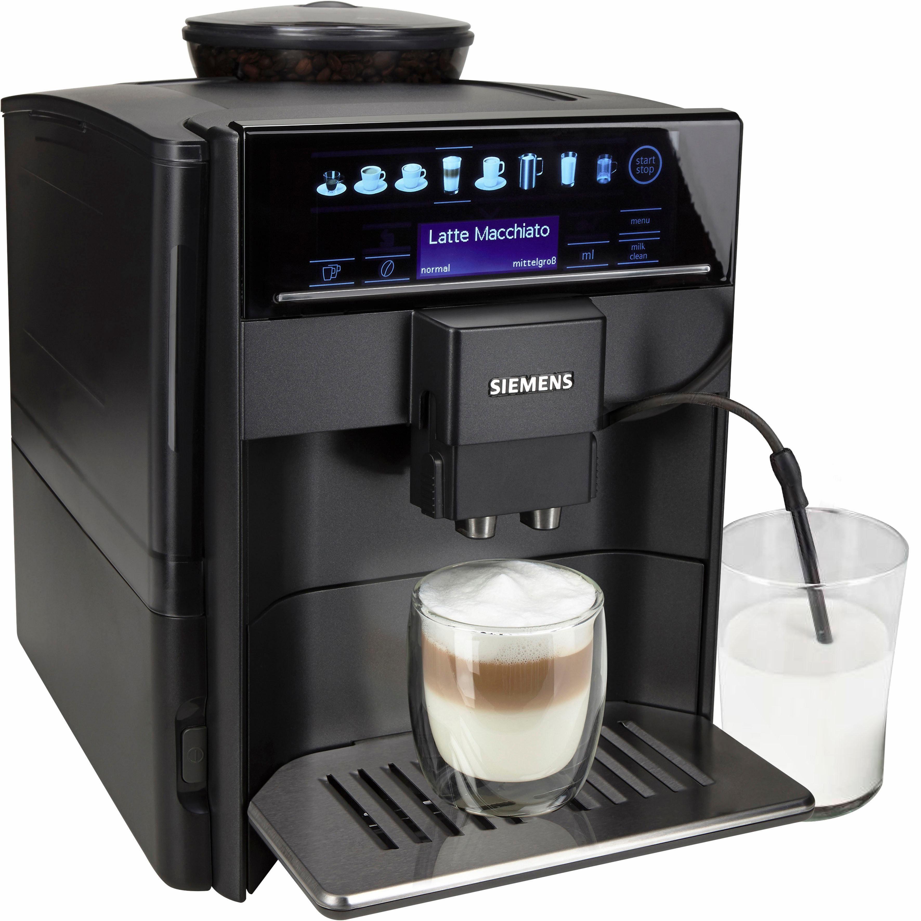 SIEMENS Kaffeevollautomat EQ.6 series 400 TE604509DE, 1,7l Tank, Scheibenmahlwerk