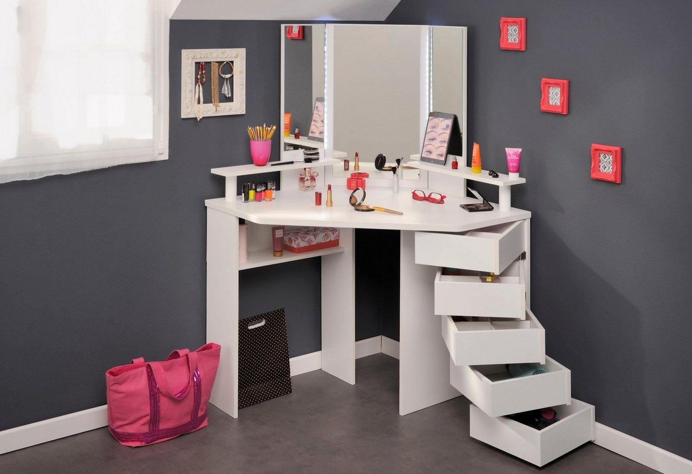 schminktisch mit beleuchtung preisvergleiche. Black Bedroom Furniture Sets. Home Design Ideas