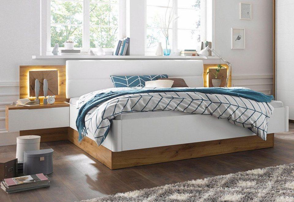 bettanlage 3 tlg set aus bett und 2 nachttischen. Black Bedroom Furniture Sets. Home Design Ideas