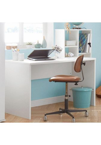 Rašomasis stalas su lentyna kopėčių ti...