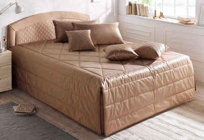 Westfalia Schlafkomfort Polsterbett, inkl. Bettkasten, Tagesdecke und Zierkissen bei Ausführung mit Matratze