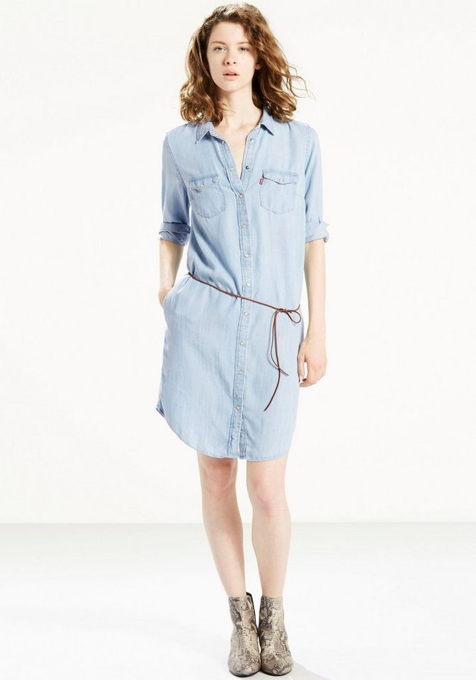 Levi's® Jeanskleid im Hemdblusen-Style in light-blue
