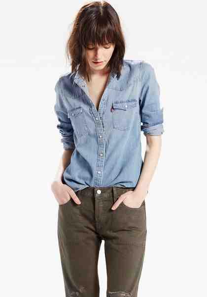 Levi's® Jeansbluse »Modern Western«, Klassische Hemdenform