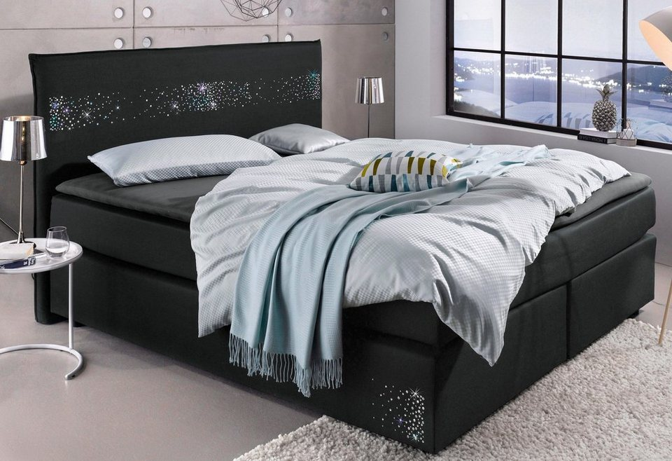 meise m bel boxspringbett veredelt mit swarovski kristall und metallapplikationen online kaufen. Black Bedroom Furniture Sets. Home Design Ideas