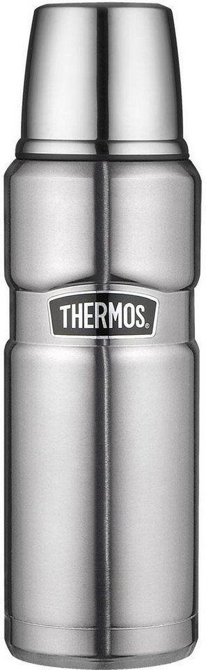 Alfi Thermos Isolierflasche, »Stainless King« in Edelstahl mattiert