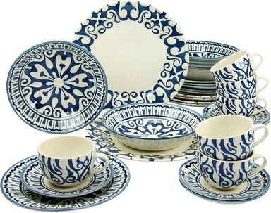 creatable kombiservice steingut 30 teile henna blue online kaufen otto. Black Bedroom Furniture Sets. Home Design Ideas