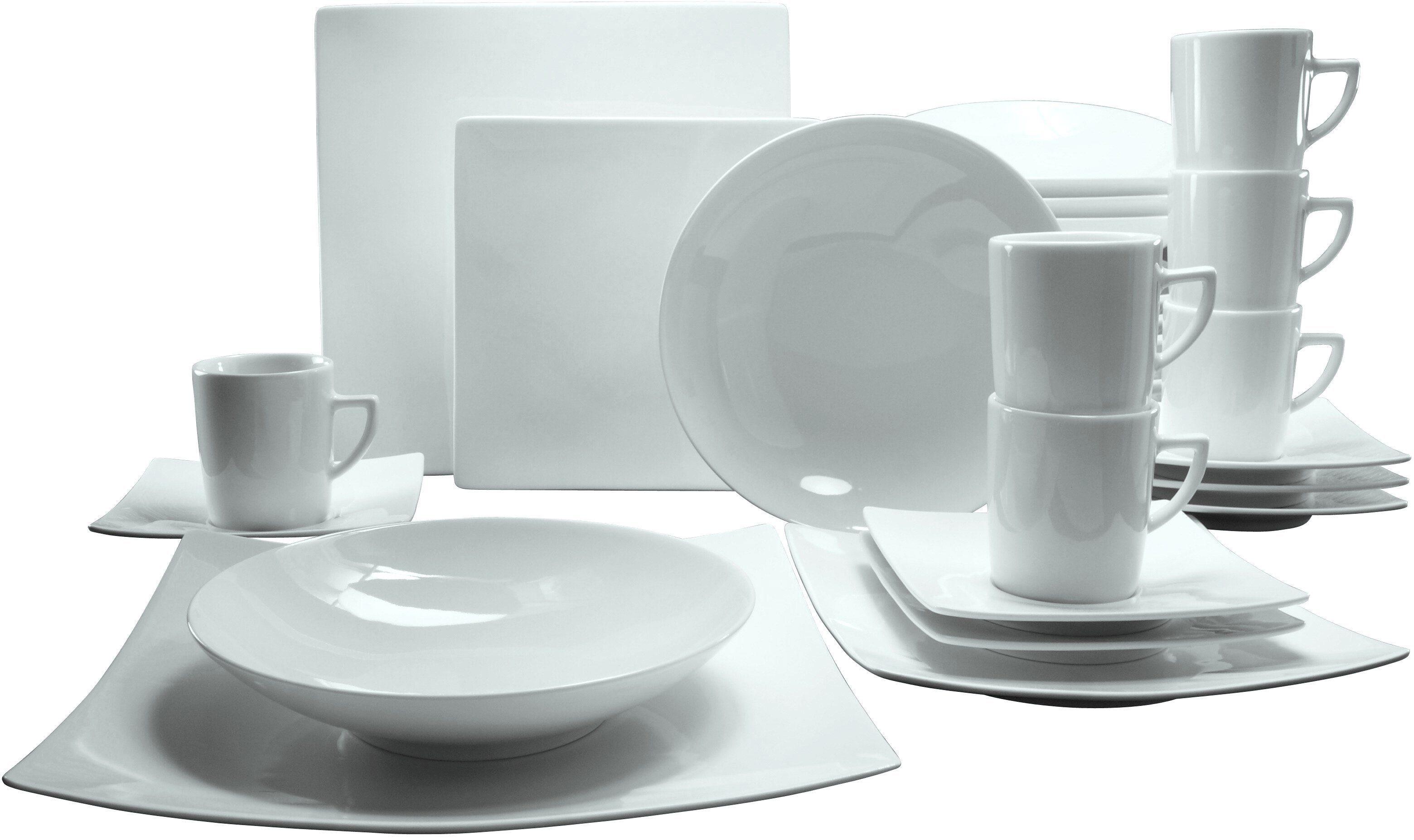 CreaTable Kombiservice, Porzellan, 30 Teile, »NEW ELEGANCE«