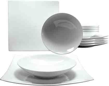 CreaTable Tafelservice, Porzellan, 12 Teile, »NEW ELEGANCE«