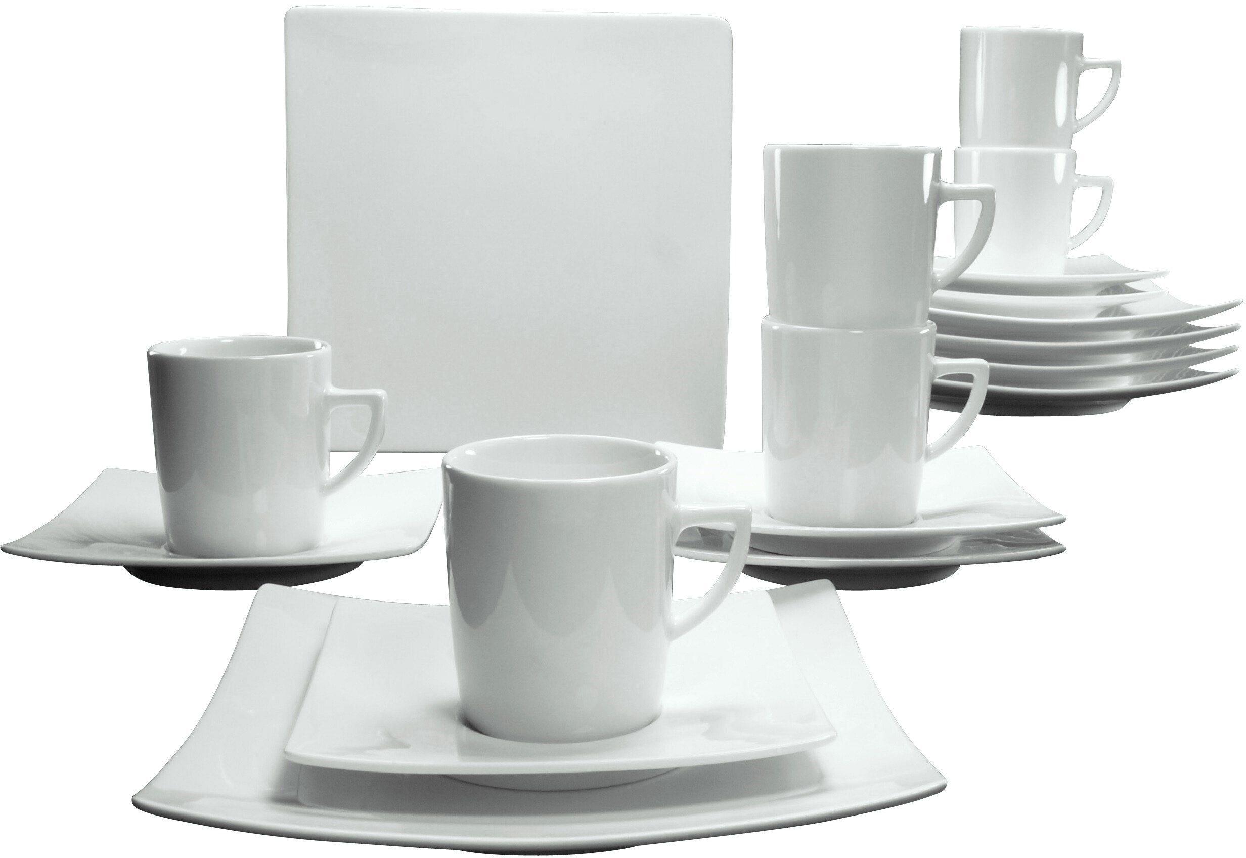 CreaTable Kaffeeservice, Porzellan, 18 Teile, »NEW ELEGANCE«