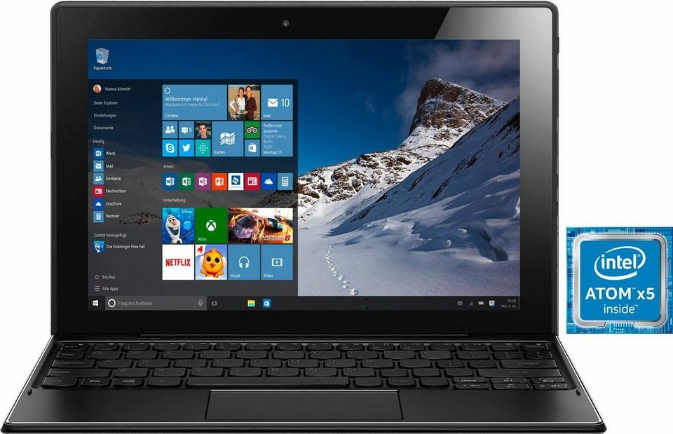 Lenovo Miix 310-10ICR 2 GB Tablet-PC, Microsoft® Windows® 10 Home, 25,7 cm (10,1 Zoll) in silberfarben