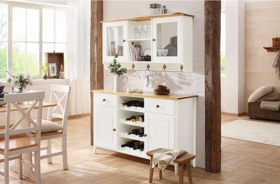 home affaire h ngevitrine anneke breite 134 cm otto. Black Bedroom Furniture Sets. Home Design Ideas