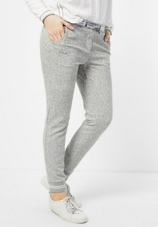 CECIL Jacquard Joggpants Chelsea in greige