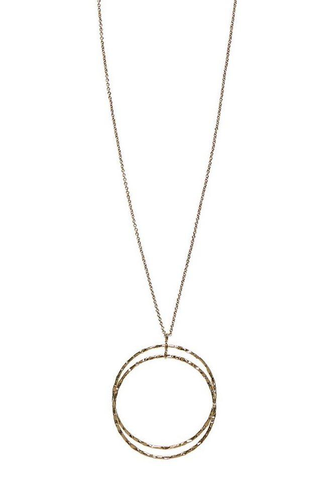 HALLHUBER Lange Kette mit Ringanhängern in gold