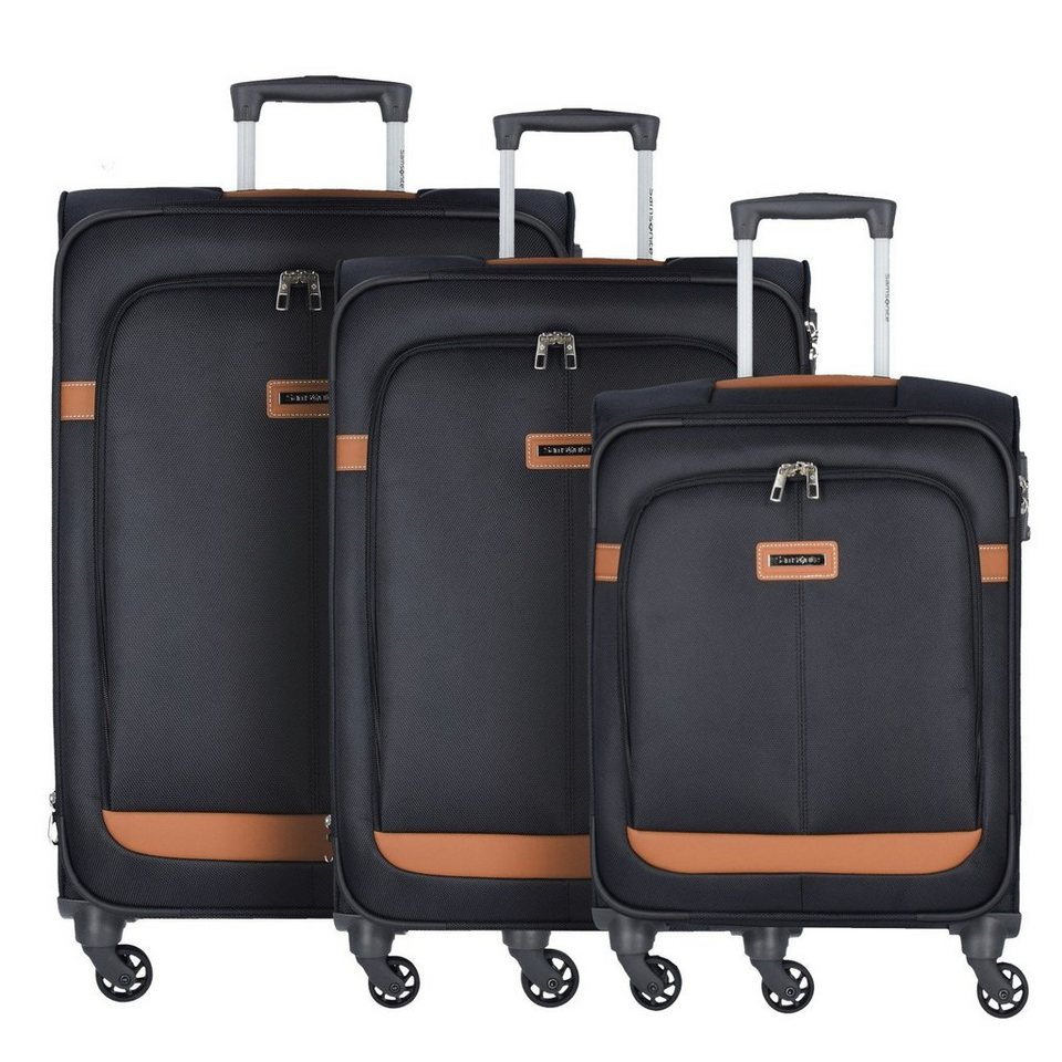 Samsonite NCS Caphir Spinner 4-Rollen Kofferset 3tlg. in black cognac