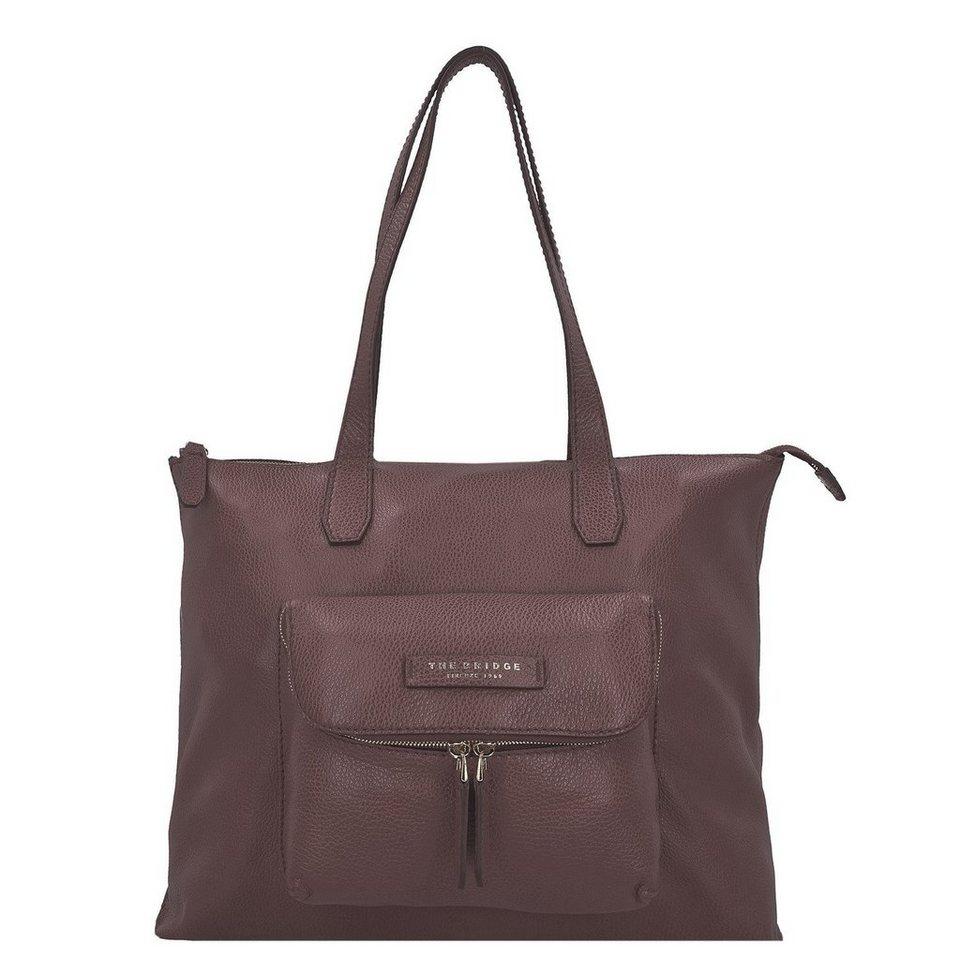 The Bridge Plume Soft Donna Shopper Tasche Leder 40 cm in marrone