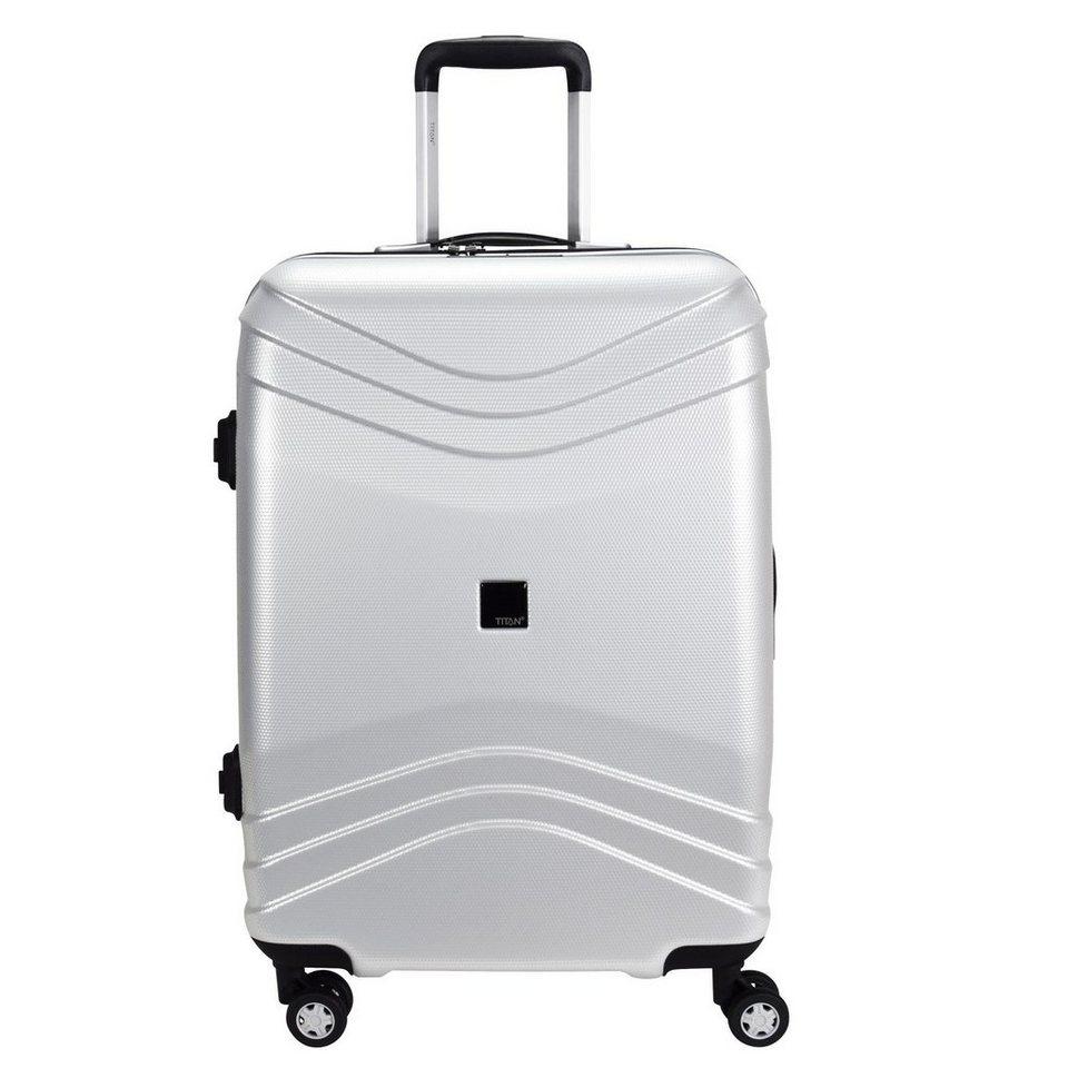 Titan TITAN Libra 4-Rollen Trolley 63 cm in shiny-silver