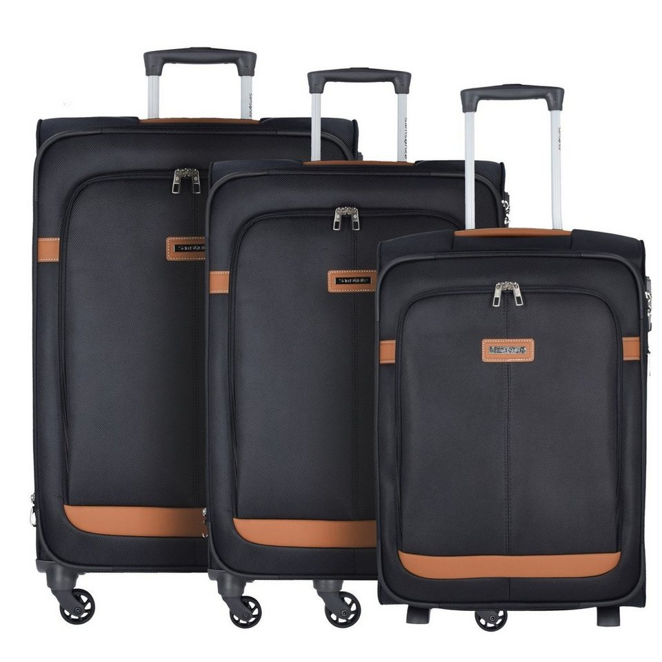 Samsonite Samsonite NCS Caphir Spinner 2-/4-Rollen Kofferset 3tlg. in black cognac