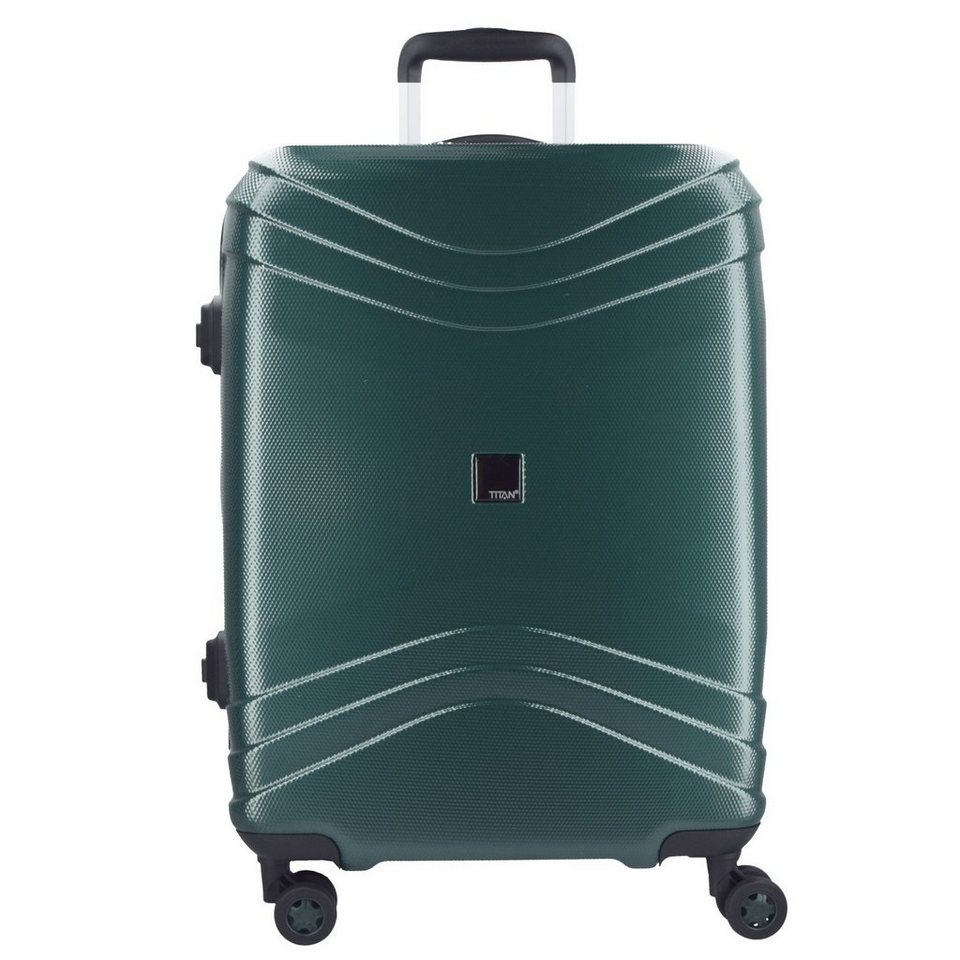 Titan Libra 4-Rollen Trolley 75 cm in emerald-green