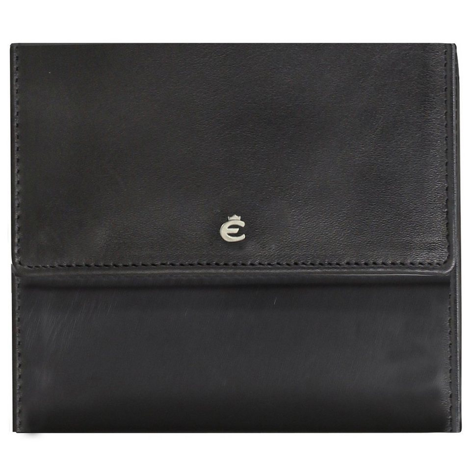 Esquire Harry Geldbörse Leder 10 cm in black