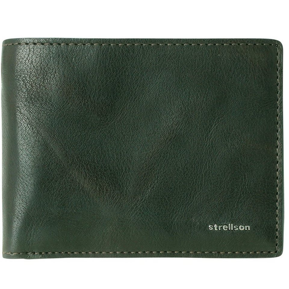 Strellson Jefferson BillFold H8 Geldbörse Leder 12 cm in green