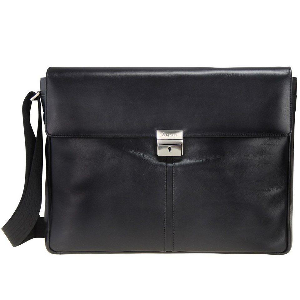 Esquire Messenger Leder 41 cm in black