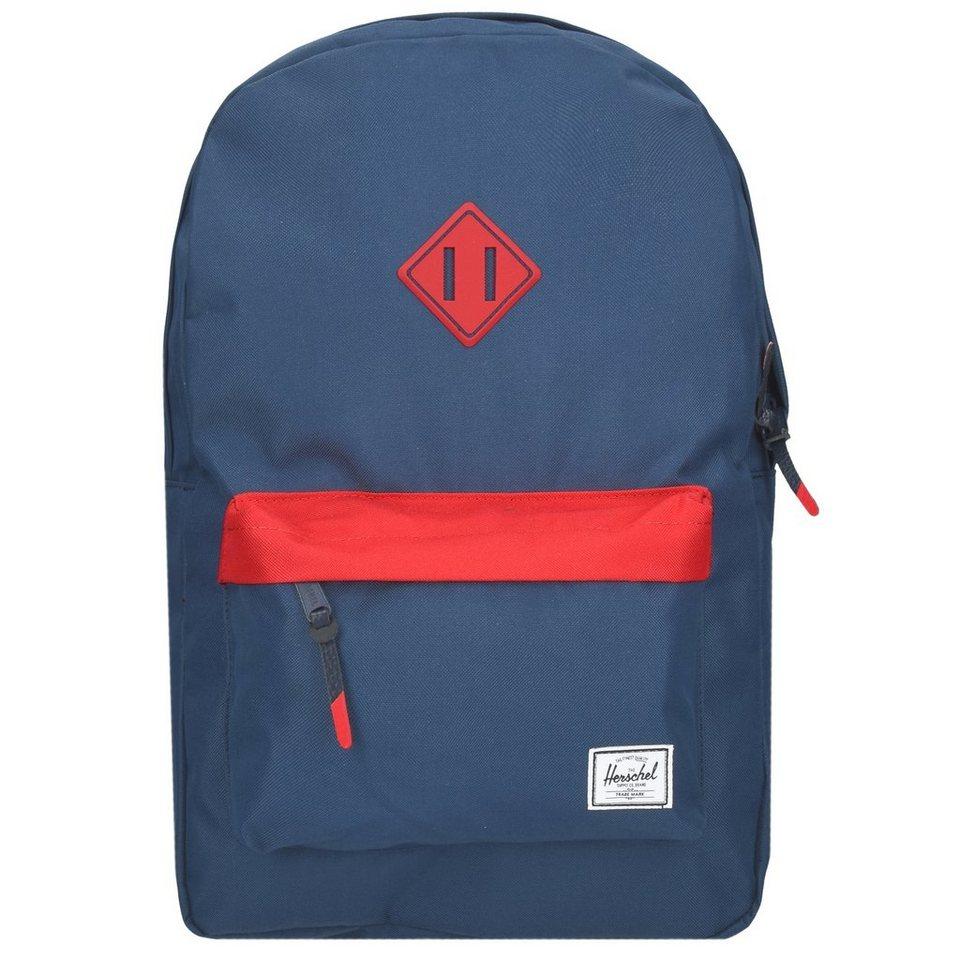 Herschel Heritage Backpack Rucksack 47 cm Laptopfach in navy-red-navy rubber