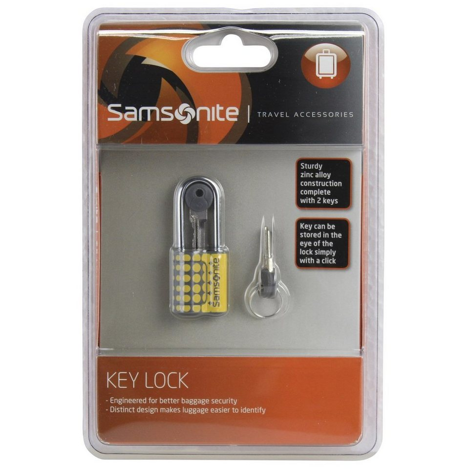 Samsonite Samsonite Travel Accessories Kofferschloss 6 cm in yellow dots
