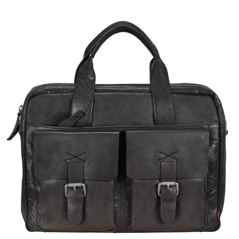 Strellson Strellson Greenford Henkeltasche Leder 30 cm Laptopfach in mud