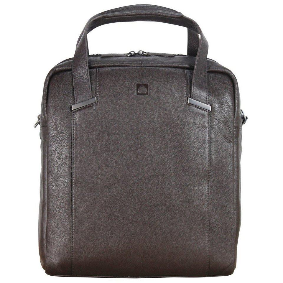 Delsey Delsey Haussmann Aktentasche Leder 33 cm Laptopfach in braun