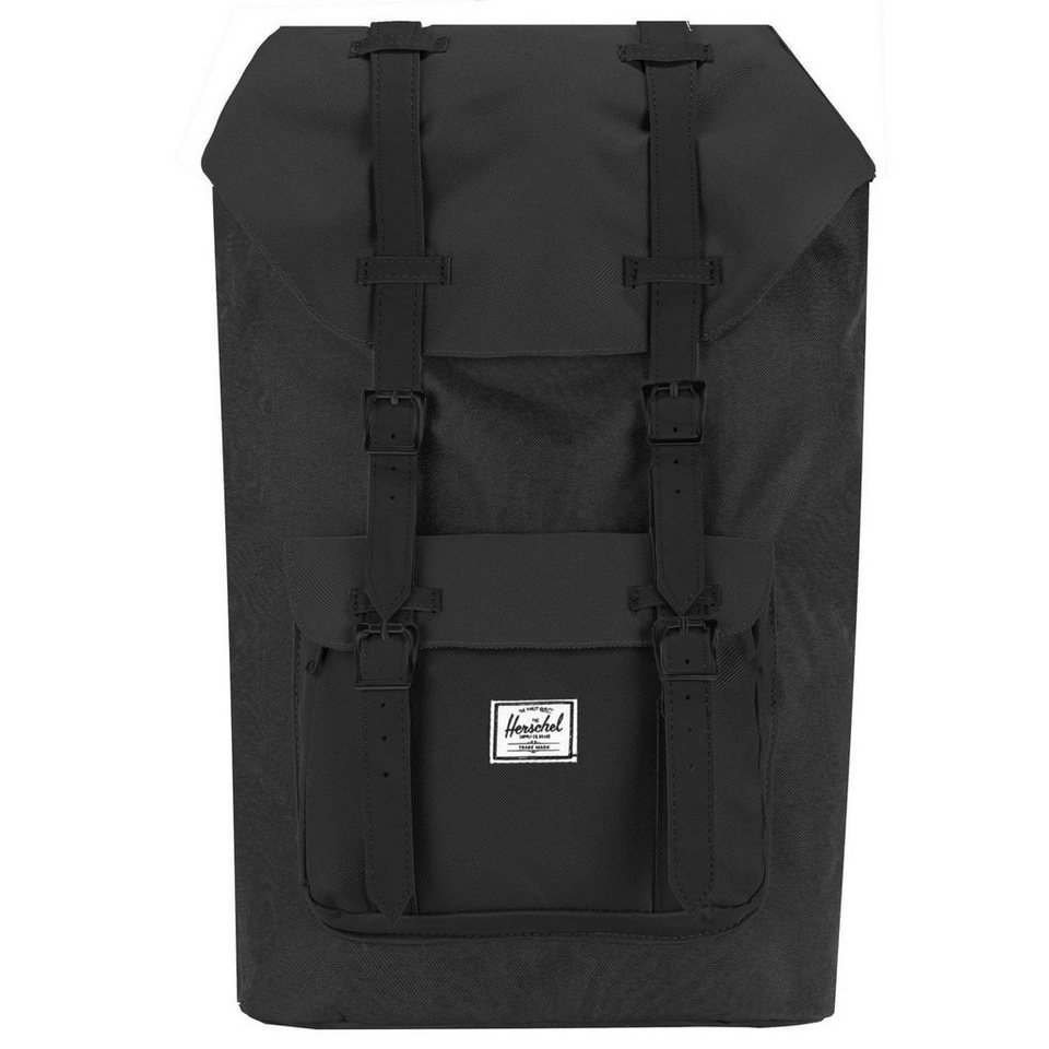 Herschel Little America Backpack Rucksack 52 cm Laptopfach in black-black-pu