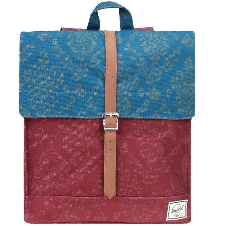 Herschel City Backpack Rucksack 35,5 cm in burgundy-damask-blue