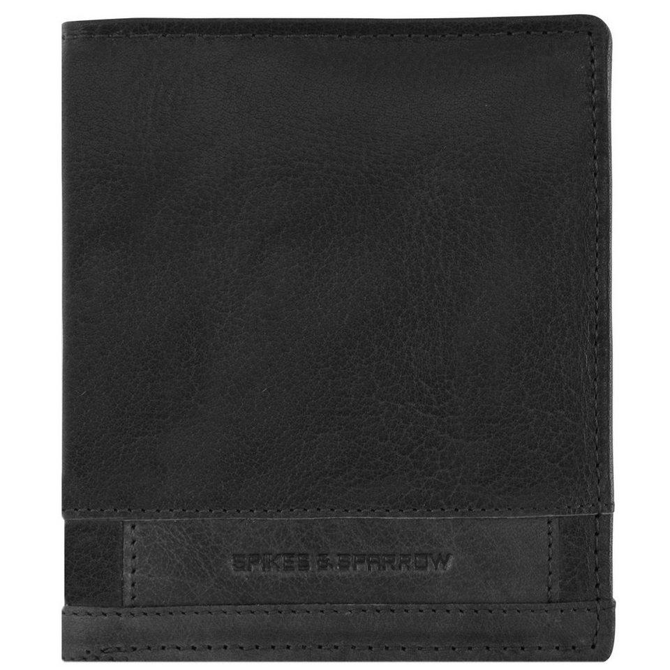 Spikes & Sparrow Bronco Geldbörse Leder 10,5 cm in black