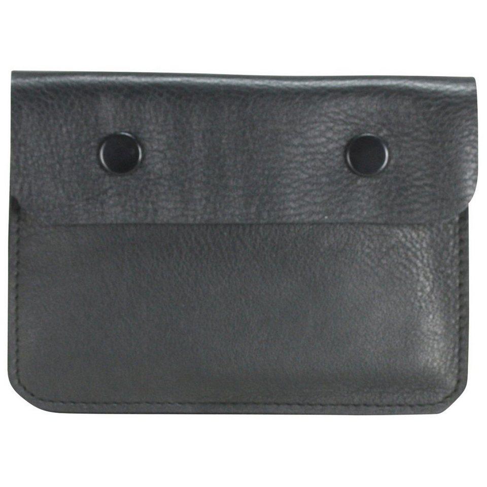 Maître M-Collection Brustbeutel Leder 12 cm in schwarz