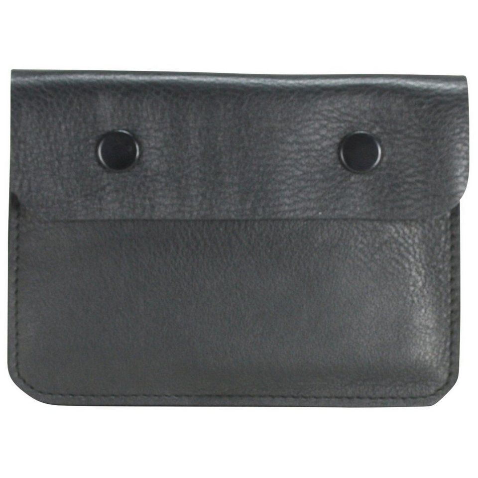 Maître Maître M-Collection Brustbeutel Leder 12 cm in schwarz