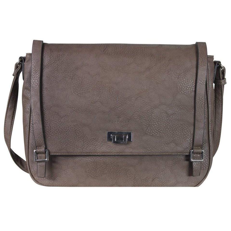 Tom Tailor Tom Tailor Women Tyra Umhängetasche 38 cm in taupe