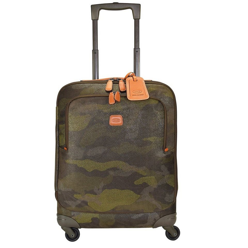 Bric's Life 4-Rollen Trolley 54 cm in military