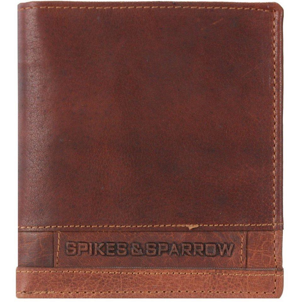 Spikes & Sparrow Spikes & Sparrow Bronco Geldbörse Leder 11,5 cm in brandy