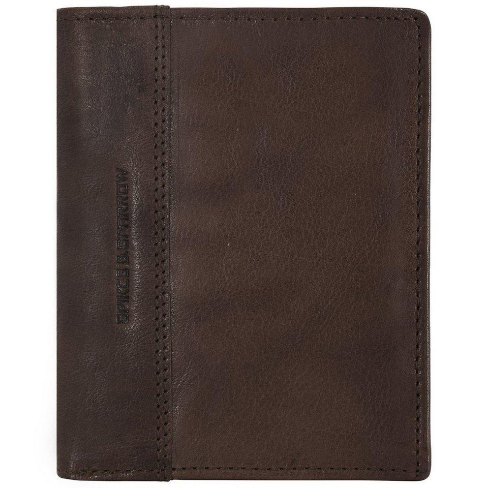 Spikes & Sparrow Spikes & Sparrow Bronco Geldbörse Leder 10 cm in dark brown