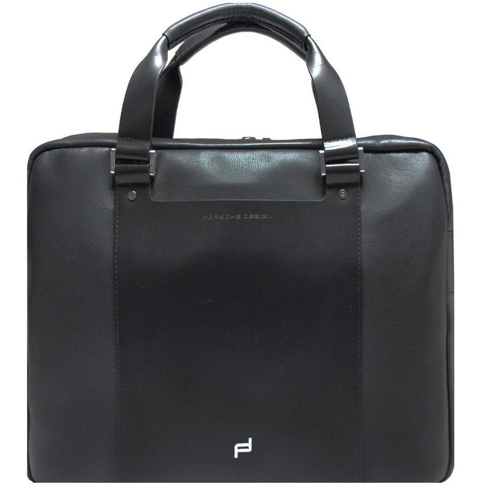porsche design shyrt leather aktentasche leder 40 cm. Black Bedroom Furniture Sets. Home Design Ideas